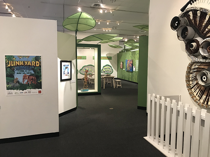 Junkyard Jungle Exhibit featuring Megan Coyle's artwork