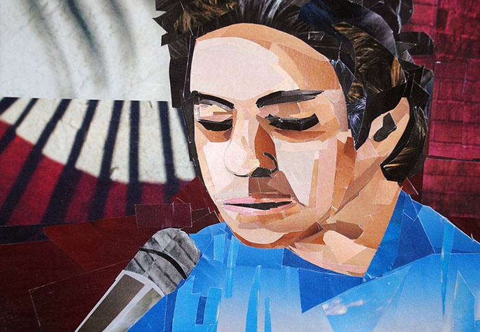M. Ward by collage artist Megan Coyle