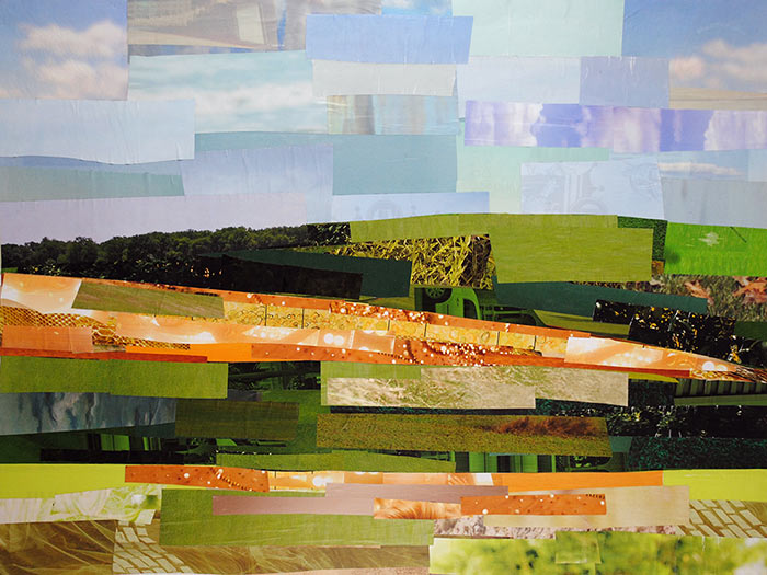 Tranquil Plains by collage artist Megan Coyle