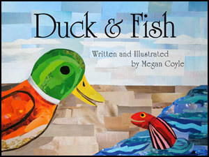 Duck and Fish by collage artist Megan Coyle