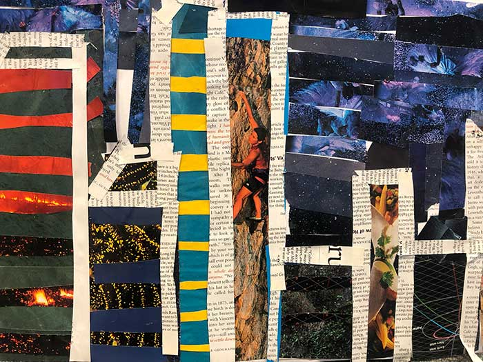 Collage by a London student inspired by Megan Coyle's collages